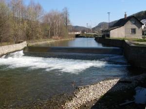 Jez Bohdíkov - řeka Morava